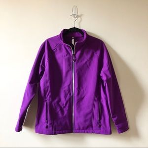 Purple Athletic Zip Up Jacket